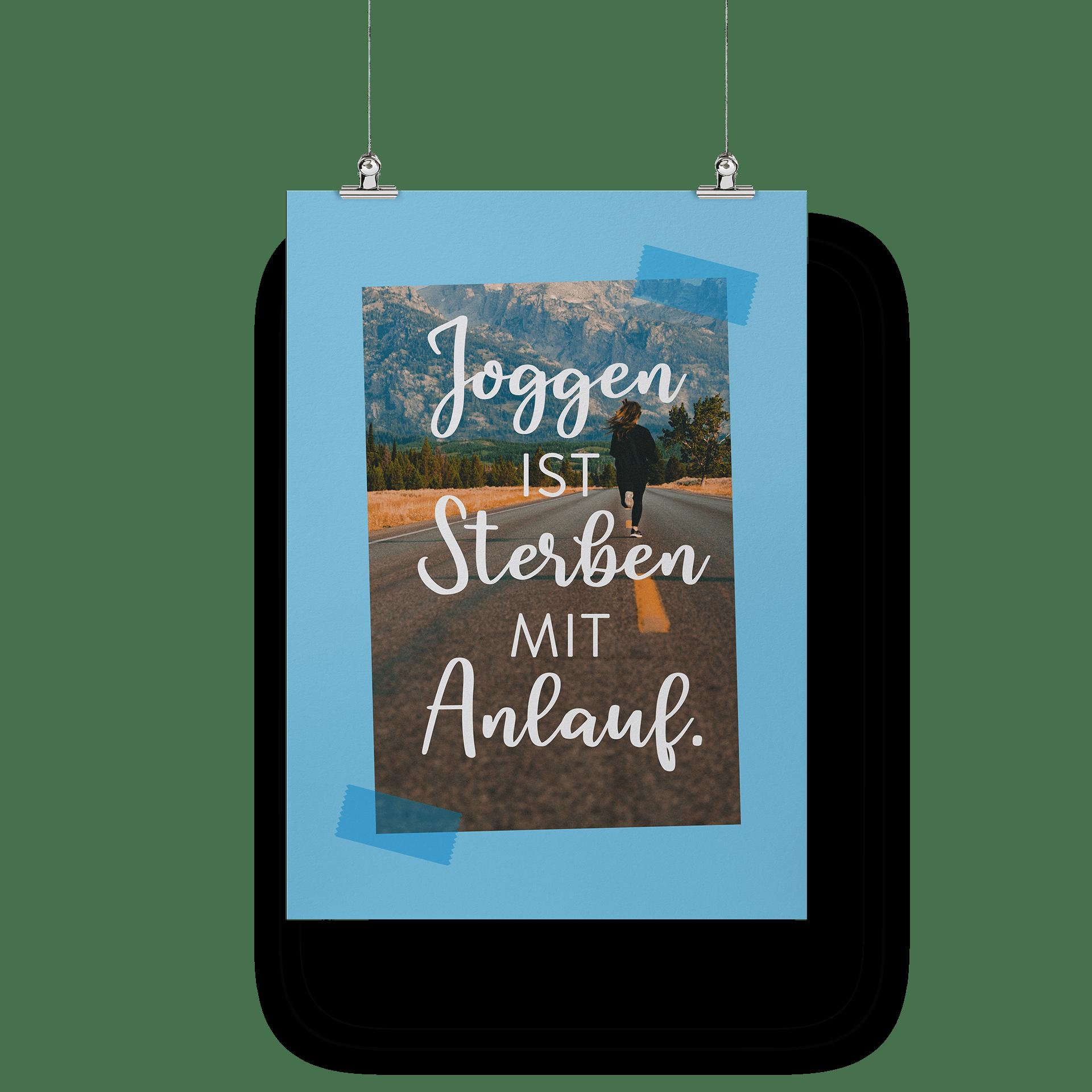 Joggen ist sterben mit Anlauf - Poster