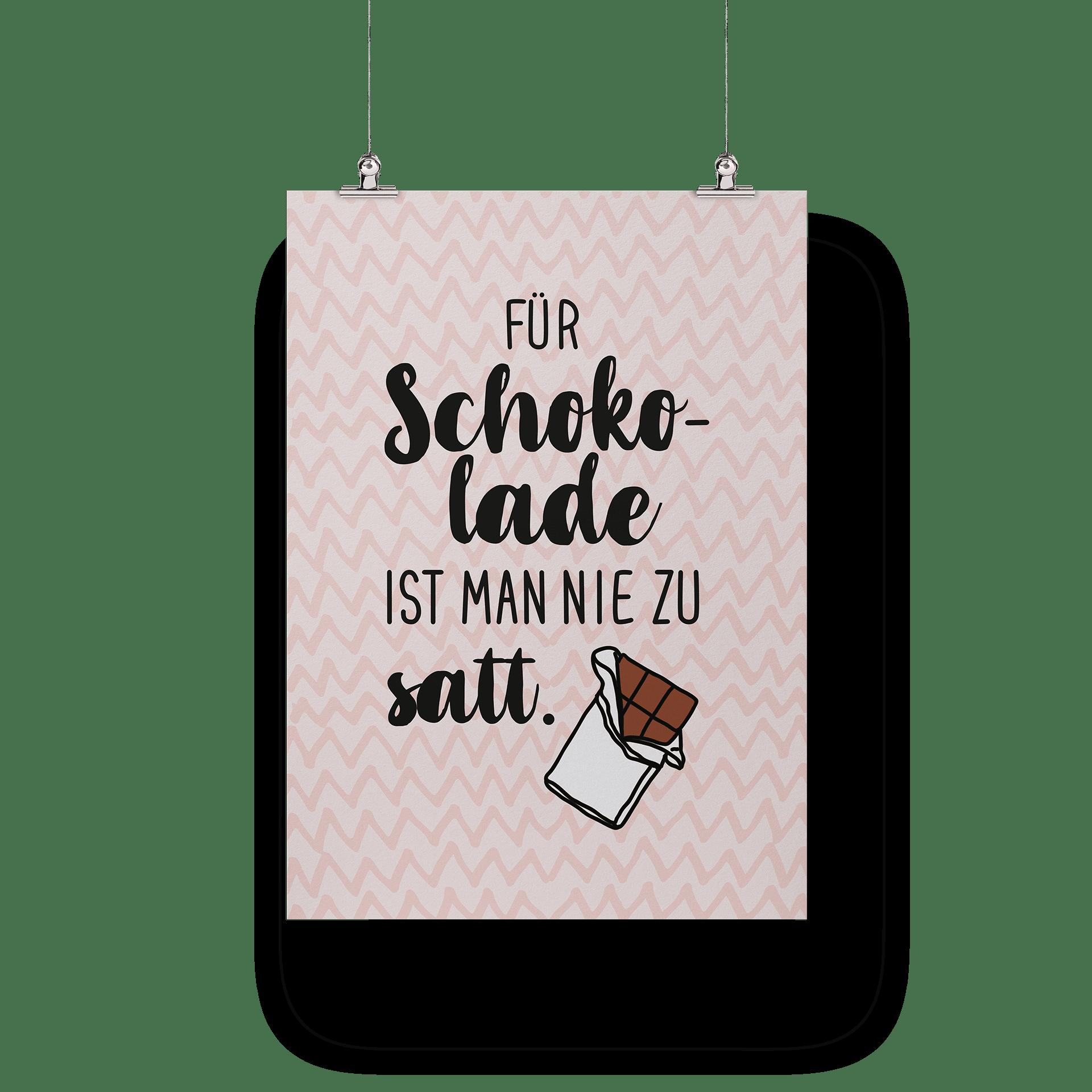 Für Schokolade ist man nie zu satt - Poster