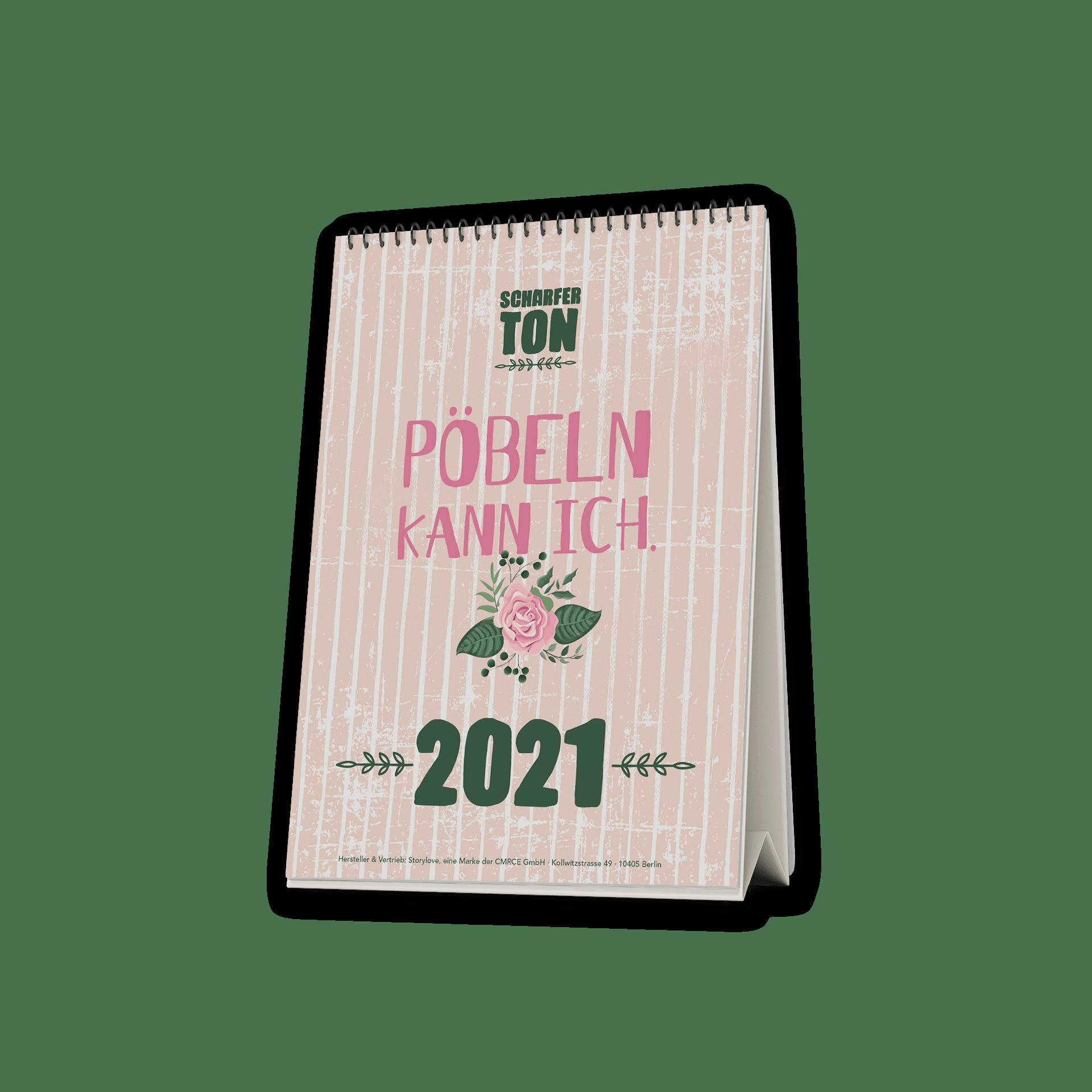 Pöbeln kann ich  - Tischkalender