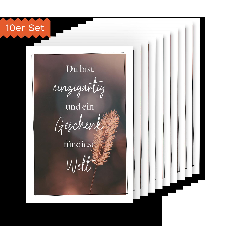 Selbstliebe - 10er Postkartenset