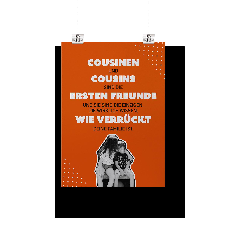 Cousinen und Cousins sind die ersten Freunde  - Poster